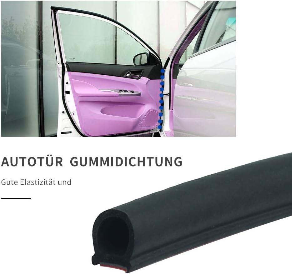4M*14mm*12mm Autot/ür T/ürdichtung D-f/örmig Gummidichtung Auto Schwarz