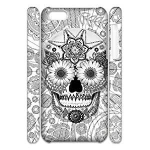 IPHONE Phone Case Of flower head of skull for iPhone 5C