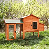 """LAZY BUDDY Chicken Coop, 41"""" Wooden Chick Cage"""