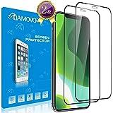 【2019iPhone為の改良3D】AMOVO iPhone 11 ガラスフィルム iPhone 11 /Xr 対応 「独創デザイン」 日本旭硝子材 ケースに対応 iPhone 11 フィルム 6.1インチ Face IDに対応 自己吸着 硬度9H 薄さ0.26mm 気泡レス 高透過率 指紋防止 液晶保護フィルム (iPhone 11, 2枚入)