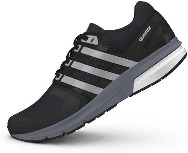 adidas - Zapatillas de Running de Lona para Mujer Negro Negro/Gris 39 1/3 EU: Amazon.es: Zapatos y complementos
