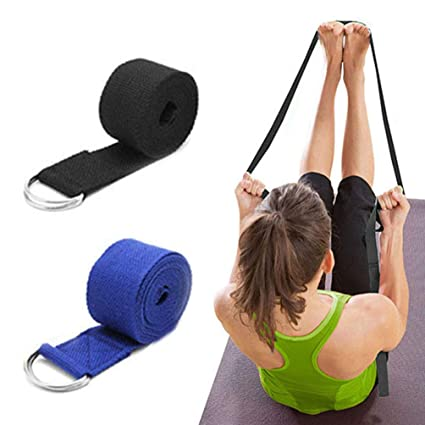 Amazon.com: Yoga Band for Stretching with D-ring, High ...