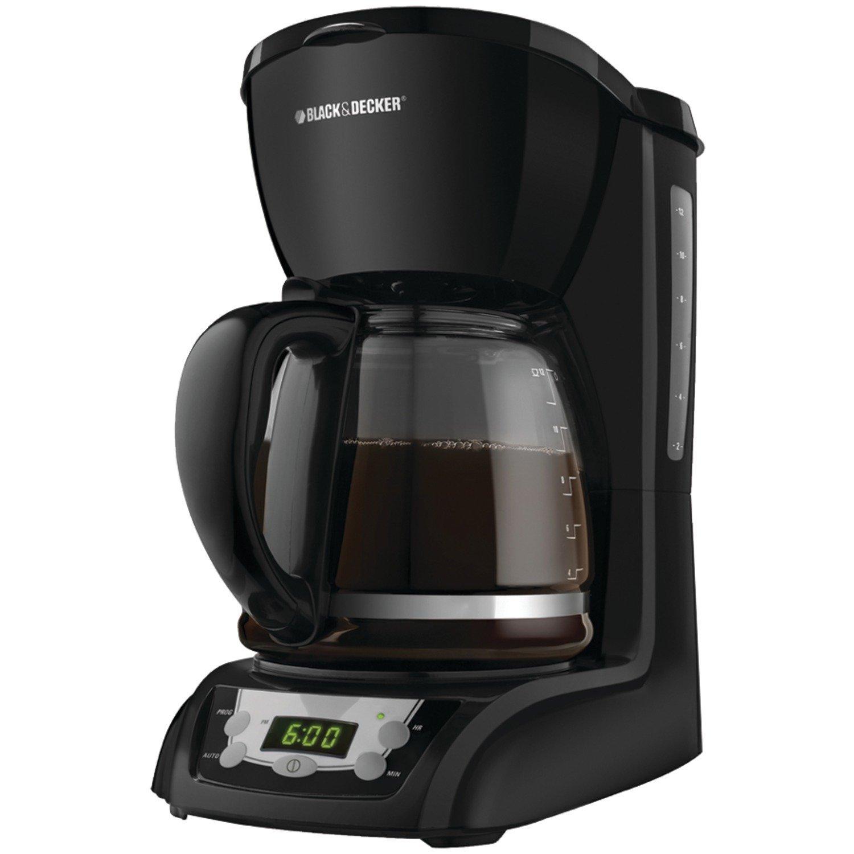 Black & Decker DLX1050B 12-Cup Programmable Coffeemaker with Glass Carafe, Black by Black & Decker [並行輸入品]   B017YAV47G