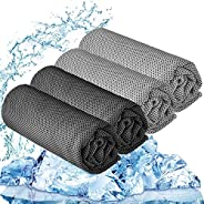 """YQXCC 3 Pcs Cooling Towel (47""""x12"""") Cool Cold Towel for Neck, Microfiber Ice Towel, Soft Breathable"""