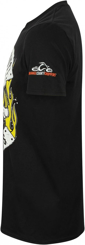 Orange County Choppers OCC T-Shirt Skull Rocker Black