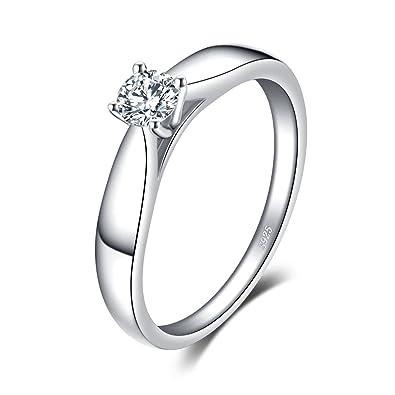 ef34025516d9 JewelryPalace Anillo de aniversario de zirconia cúbicos de plata esterlina  925 de las mujeres Banda de boda simple  Amazon.es  Joyería