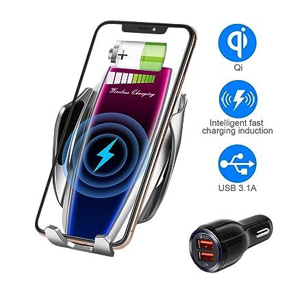 Amazon.com: Cargador inalámbrico para coche con sensor ...