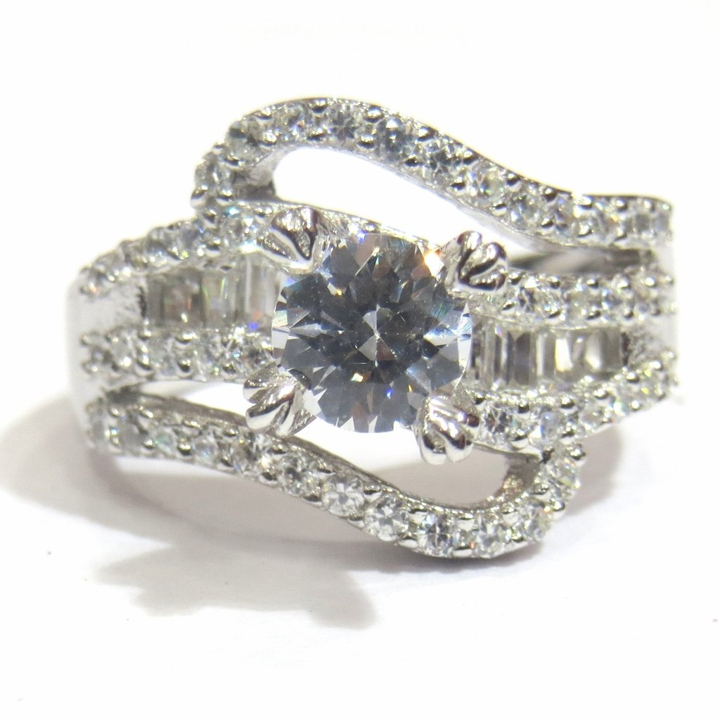 Jewelshingar Jewellery Fine Silver Plated Ring For Girls ( 31032-ring-ssr )