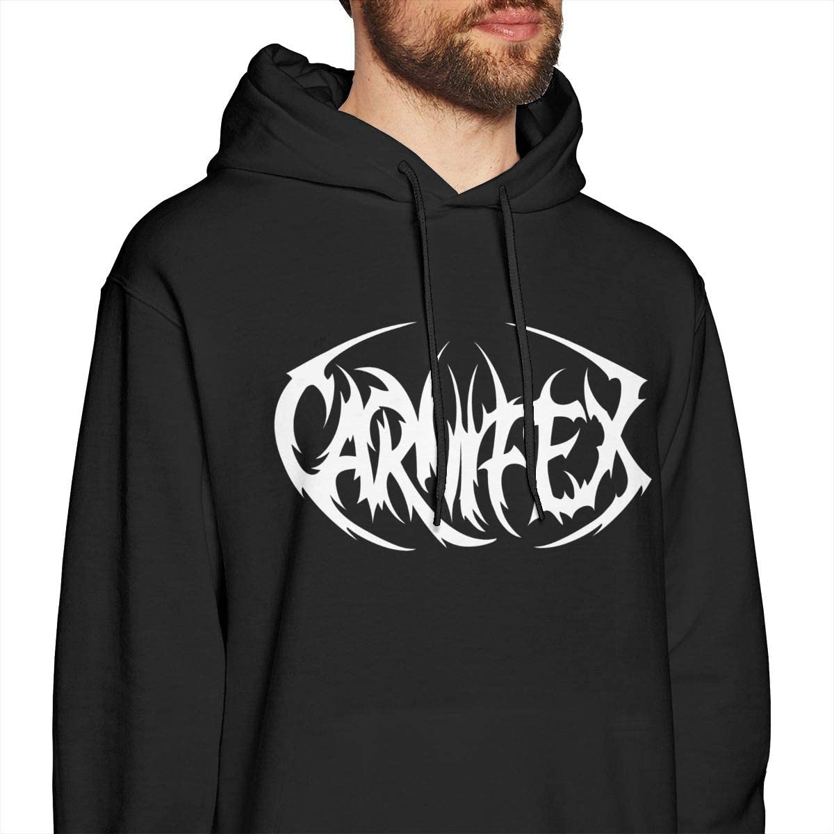 QINQIN Carnifex Cool Mens Hat and Pocketless Sweater Black
