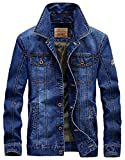 Product review for Chouyatou Men's Classic Rugged Button-Front Mediumweight Denim Trucker Jacket