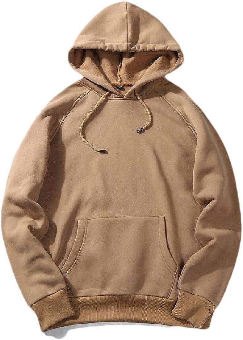 CYJ-shiba Mens Casual Hoodie Contrast Pullover Sweatshirt with Pockets
