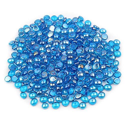 Gemnique Mini Glass Gems - Caribbean Blue Luster (48 oz.)