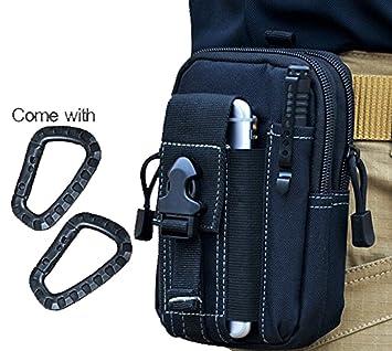Wynoz negro 1000D Nylon resistente mochila EDC Casual Outdoor Gear llevar bolsa Universal Kit Herramienta riñonera cinturón capacidad para iPhone 6s Plus ...