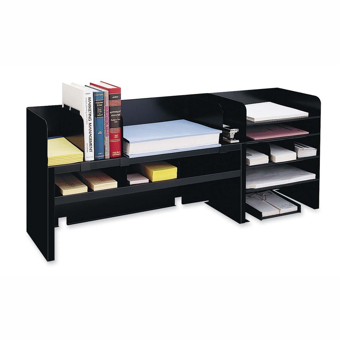 MMF2061DOBK - MMF Raised Shelf Design Desk Organizer