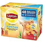 Lipton Gallon-Sized Black Iced Tea Bags, Unsweetened, 48 ct 14 Refreshing Lipton iced black tea from these convenient gallon-size bags Made with real tea leaves specially blended for iced tea Naturally Tasty & Refreshing Lipton Iced Black Tea is the perfect addition to any meal