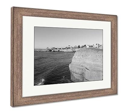 Amazon.com: Ashley Framed Prints San Diego Cliffs, Wall Art Home ...