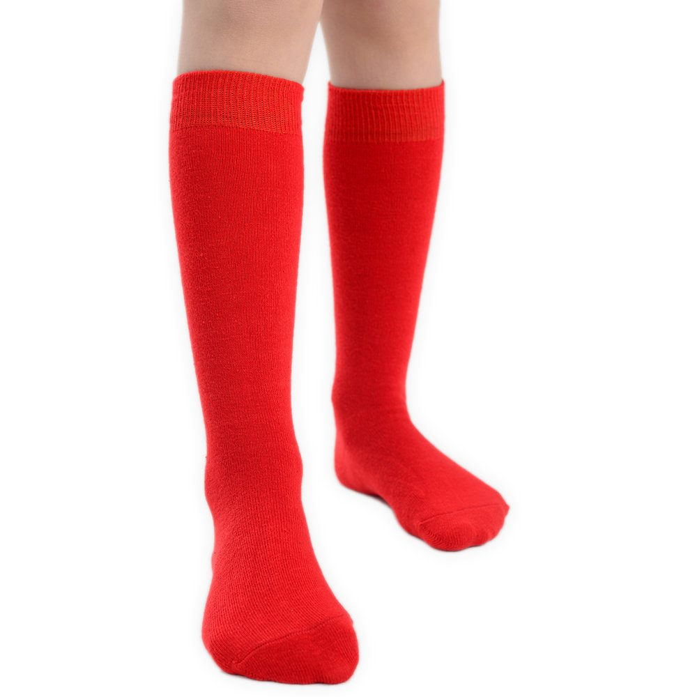 2 Pairs of Baby and Girls Knee High Cotton Socks in 5 Colours & UK Sizes GKHBS2