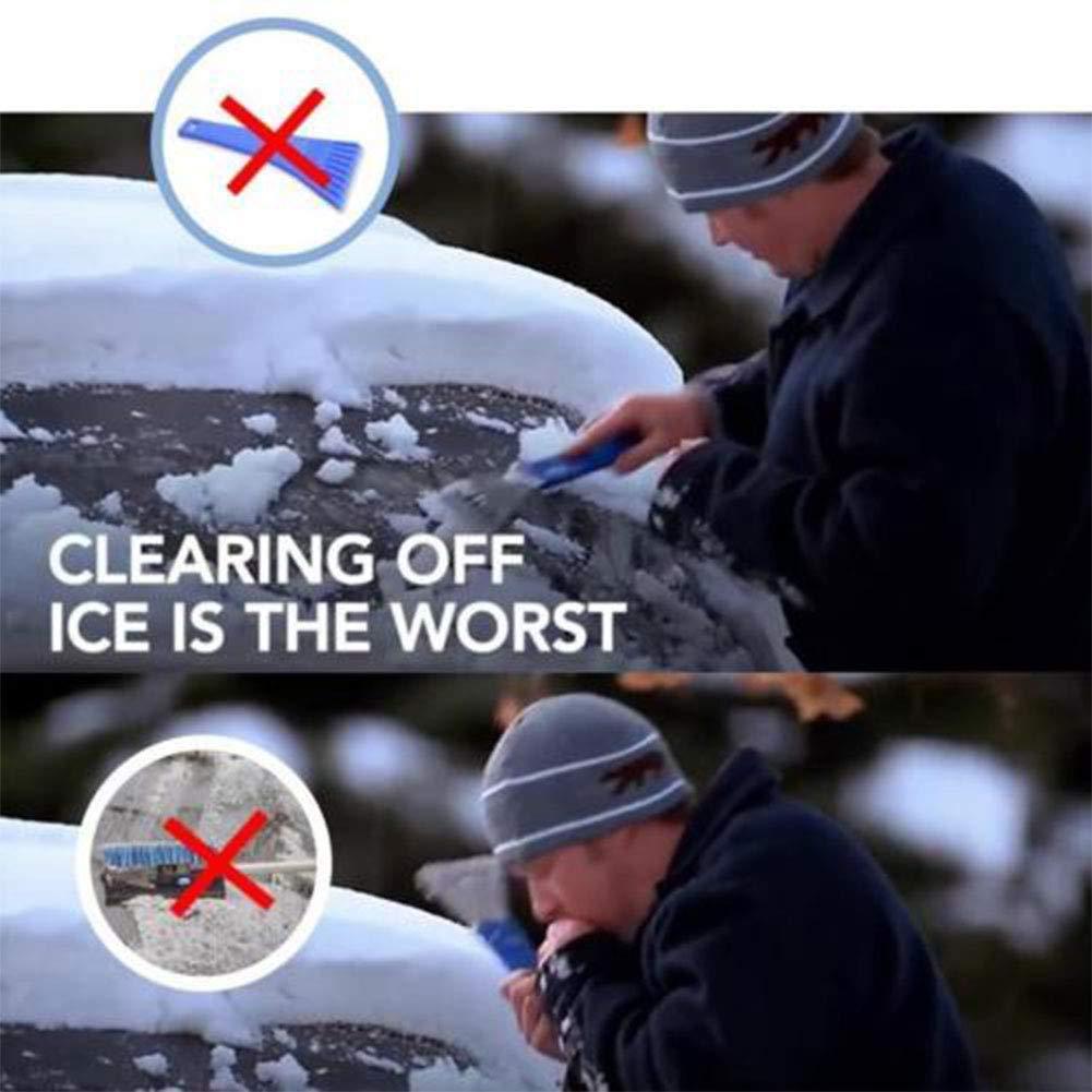 Snow Removal Scrapers IKADEER Scrape A Round Car Windshield Ice Scraper 5559000759 Black