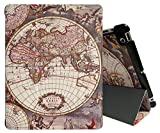 iPad 2/3/4 Case - Tessday Smart Shell Case for Apple iPad 4th Generation with Retina Display, iPad 3 & iPad 2, World Map