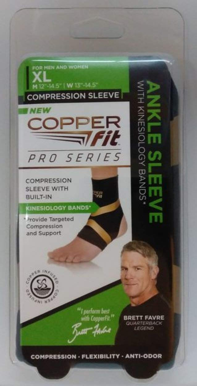 9fa62da19c Amazon.com: Copper Fit Pro Series Performance Compression Ankle Sleeve:  Sports & Outdoors