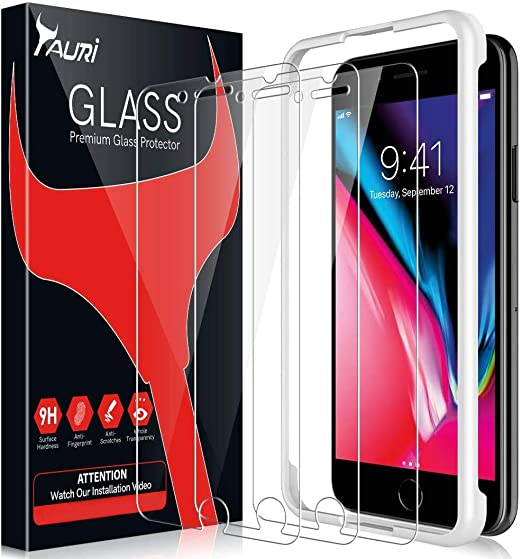 3 PACK TEMPERED GLASS IPHONE 8 PLUS 7 PLUS 6S PLUS HIGH IMPACT PROTECTION 3 PACK