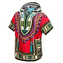 African Dashiki Unisex Traditional Hoodie Top