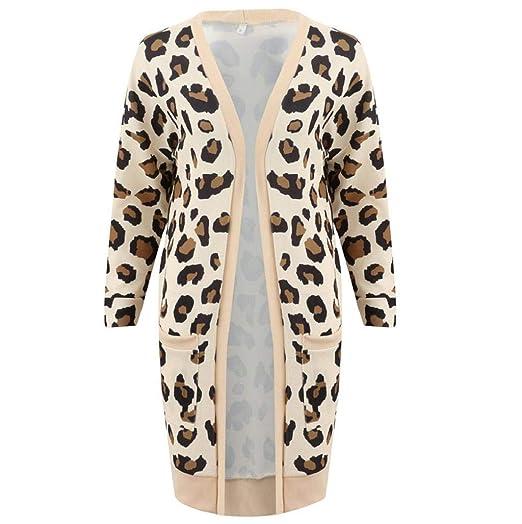 Liquidación Mujeres Leopardo Invierno Sexy cálido Abrigo Caliente de Piel sintética Abrigo Cardigan Outwear Chaqueta de Abrigo Luckycat: Amazon.es: Ropa y ...