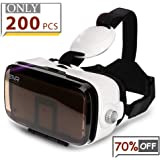 ETVR 3D Virtual Reality Headset For 3D Movies and VR Games, Ultralight & Comfortable VR Headset, Large Screen Immersive Experience VR Goggles Fit for 4.7 - 6.2 inch IOS/Android Smartphones - White