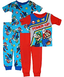 BOYS OUTFIT 2 PIECE SET SUPER MARIO AGE 4 5 6 7 /& 8 YEARS