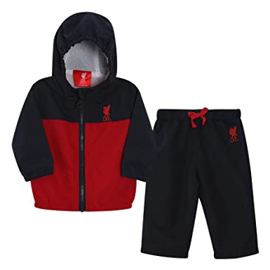 207e2713c57 Liverpool FC Navy Red Baby Boy Football Tracksuit AW 18 19 LFC Official   Amazon.co.uk  Clothing