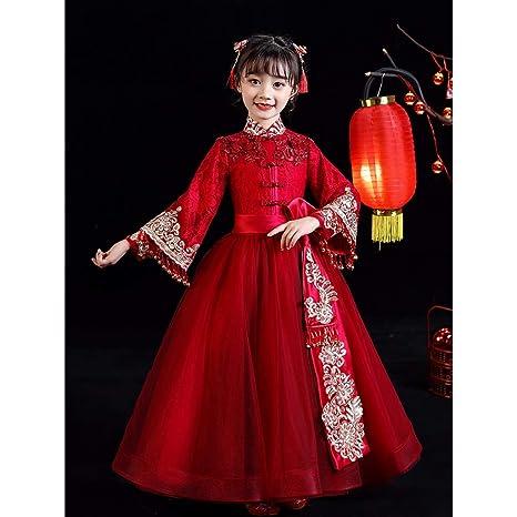 Traje YC-Tang Ropa de Vestuario Tang Ropa de los niños Rojos Hanfu ...
