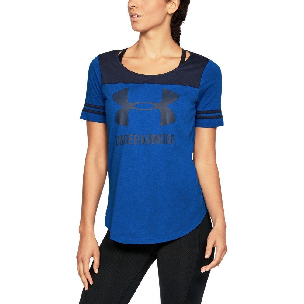 Under ArmourレディースUAグラフィックベースボールTシャツ B075DH2W92 Small|Lapis Blue/ Midnight Navy Lapis Blue/ Midnight Navy Small