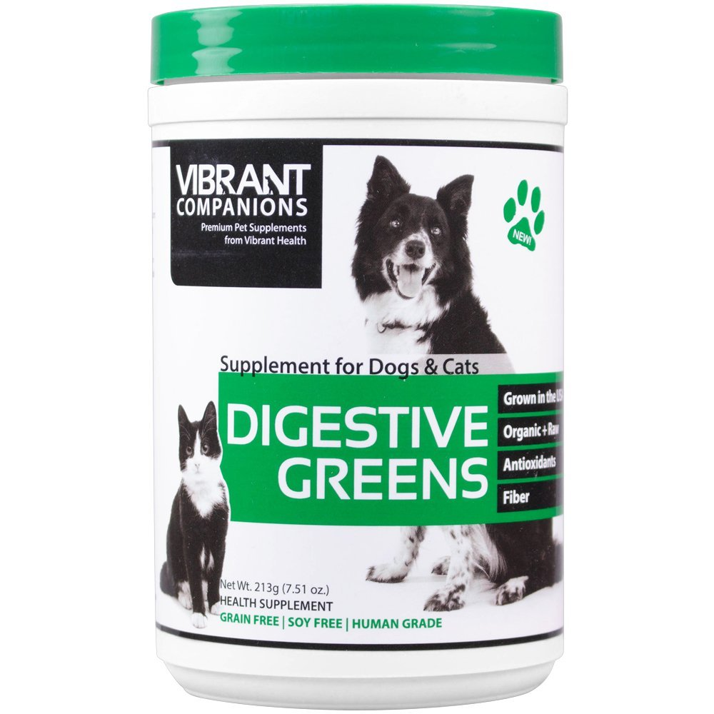 Vibrant Companions Digestive Greens, Supports Digestion in Dogs & Cats, 7.51 oz