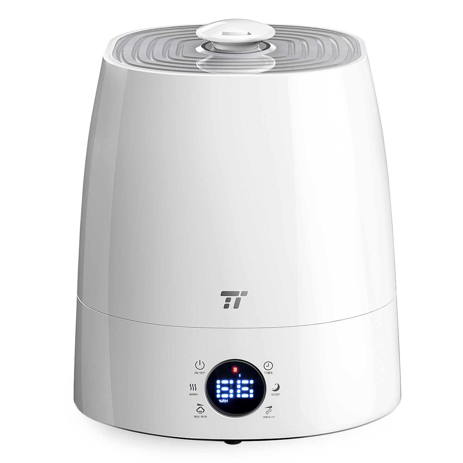 TaoTronics Warm & Cool Mist Humidifier, Ultrasonic Humidifiers for Bedroom, LED Display, External Humidity Sensor, Large 5.5L/1.46 Gallon Capacity, 360° Rotatable Nozzle, US 110V