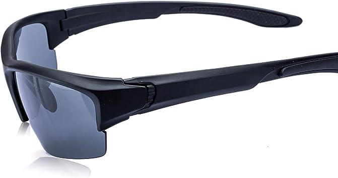 AOKNES Men's Polarized Sunglasses Semi Rimless Sports Wrap Glasses for Driving Fishing Cycling