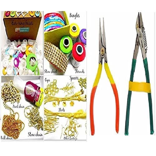Flower making kit buy flower making kit online at best prices in am silk thread jewelery making fully loaded box with all accessories and cutter plier tools mightylinksfo