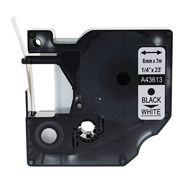 NineLeaf 2PK Black on White Standard D1 Self-Adhesive