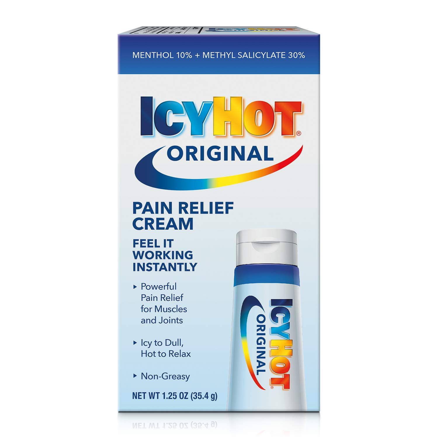 Icy Hot Pain Relieving Cream, Extra Strength with Menthol, 1.25 Ounces