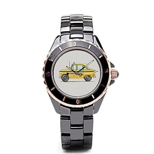 sjfy comprar en línea reloj de pulsera Taxi escuela correas de reloj de cerámica: Amazon.es: Relojes