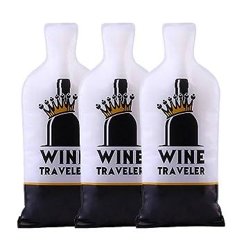 Selric Wine Traveler, Paquete de 3 Protector de Bolsas para botellas / Bolsa de Regalo