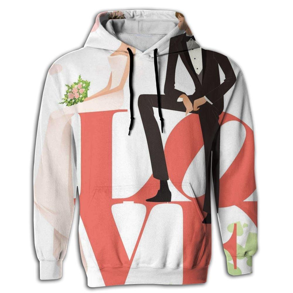 BINGGOO Love Wedding Novelty Hoodie Fit Tie Dye Sportswear