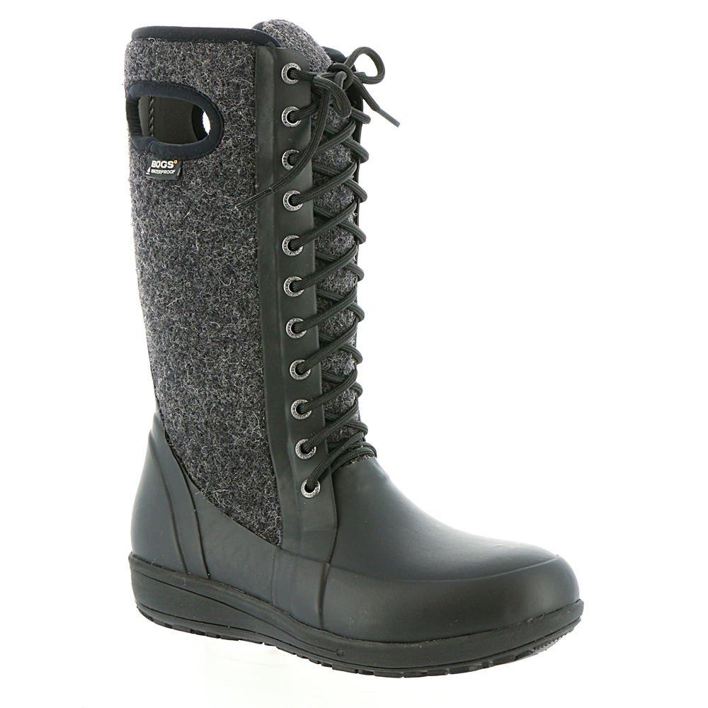 Bogs Women's Cami Lace Tall Wool Black Multi Boot 7 B (M)