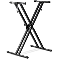 Bison Prosound Music Musical Classic Double X Keyboard Stand (80-075)
