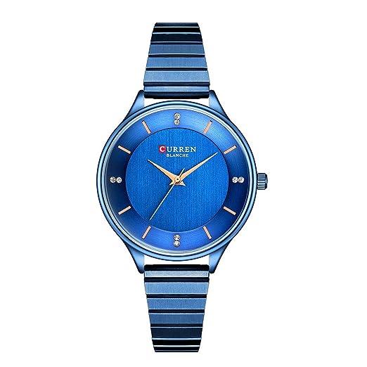 Sannysis Reloj Moda Relojes Pulsera Mujer,Simple con Circonta,Aleación de Titanio Analógico Cuarzo