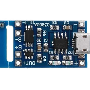 1 UNID TP4056 Micro USB 5V 1A Tarjeta de Módulo de Carga de ...