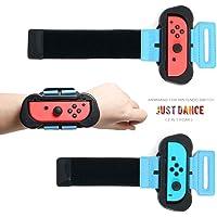 Joy-con - Muñequera Compatible con Nintendo Switch para Just Dance 2019/2020/2018 Compatible con Nintendo Switch Standard Edition (Ajuste para 6.3 -7.5 pulgadas y 4.72 -7.5 pulgadas de circunferencia de la muñeca) - (2 Unidades)