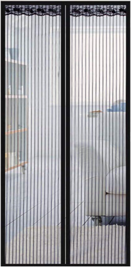 Patio pour Porte Magn/étique Rideau de Moustiquaire Fen/être avec Punaise et Bande Adh/ésive Value Sky Moustiquaire de Porte Magn/étique 80 * 200 CM, Noir