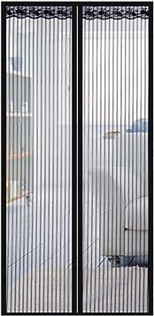 Value Sky Mosquitera Puerta, Cortina Mosquitera Magnética Automático Para Puertas de Sala de Estar la Puerta del Balcón Puerta Corredera de Patio (85 * 205 CM, Negro): Amazon.es: Bricolaje y herramientas