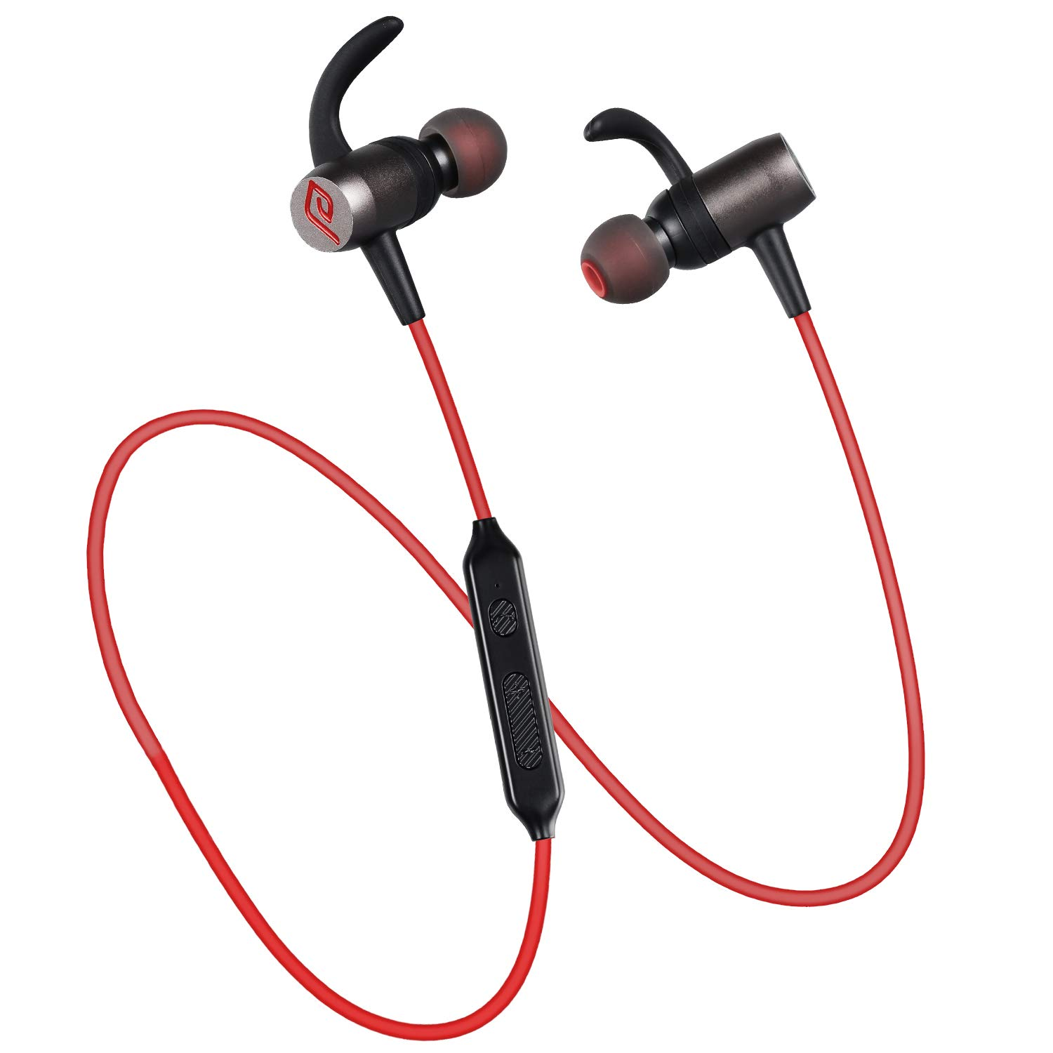fa01adc5abb Bluetooth Headphones, Parasom A10 Wireless 4.1 Magnetic In-ear Earbuds  Stereo Earphones, Sweatproof Noise-isolation Headphone with built-in Mic  for Sports, ...