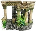 Ellie-Bo Temple Ruins Handpainted Pol...